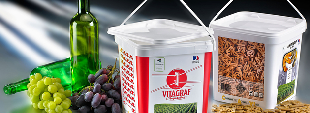 Biodegradable vineyard clips now sold in pails