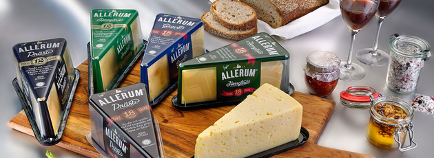 Fresh wedge-shaped pack rejuvenates mature cheese
